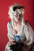 Woman dressed as Marie Antoinette — Stock Photo