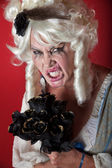 Woman dressed as scary Marie Antoinette — Stock Photo