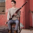 Young Bassoon Musician — Stock Photo