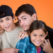 Big Brother and Siblings — Stock Photo