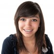 Постер, плакат: Cute Latino Girl Smiling with Braces