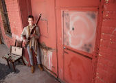 Handsome Young Bassoon Musician — Stock Photo