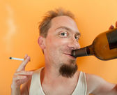 Happy Drunkard — Stock Photo