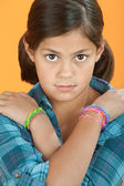 Little Girl With Arms Crossed — Stock Photo