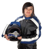 Latina Teen Racer — Stock Photo