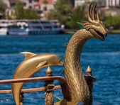 Ornate Boat Decorations on the Bosphorus — Stok fotoğraf