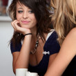 Cute looking girl in a Cafe — Stock Photo #40621293