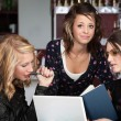 Stock Photo: Three Girls Studying