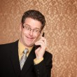 Stock Photo: Businessman on a telephone call