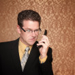 Angry Businessmwith Cell Phone — Stock Photo #40622051