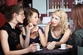 Friends in a Coffee Shop — Stock Photo