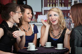 Chatting in a Coffee Shop — Stock Photo