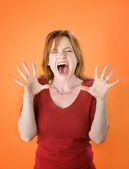 Shouting Red Head — Stock Photo