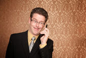 Businessman on a telephone call — Stock Photo