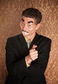 Masked Businessman — Stock Photo