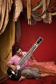 Young Sitar Musician — 图库照片