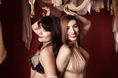 Two Beautiful Belly Dancers — Stock Photo