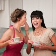 Woman Whispers Joke — Stock Photo #40630413