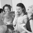 WomLaughing at Friend on Phone — Stock Photo #40630981