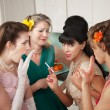 Women Gossiping in Kitchen — Stock Photo #40631089