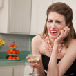 Weeping Woman with a Martini — Stock Photo #40631607