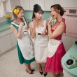 Three Women Gossiping — Stock Photo
