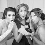 Three Retro Women — Stock Photo