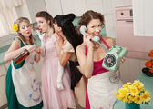 Group Of Retro Housewives — Stock Photo