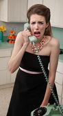 Crying Woman on Phone — Foto de Stock