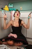 Frustrated Woman Screaming — Stock Photo