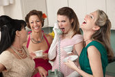 Woman Laughing at Friend on Phone — Stock Photo