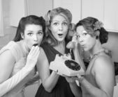 Three Retro Women — Foto Stock