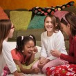 Stock Photo: Little Girls Laughing