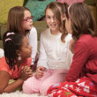 Stock Photo: Four Chatty Little Girls