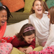 Stock Photo: Little Girls Laugh