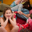 Stok fotoğraf: Overwhelmed at Sleepover