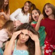 Stock Photo: Little Girls Misbehave