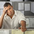 Overworked Male Office Worker — Stock Photo