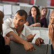 Stock Photo: Embarrassed MWith Coworkers