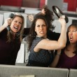 Stock Photo: Three Women Quarreling