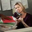 Unhappy Office Woman — Stock Photo