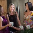 Pregnant Women Enjoying Coffee — Stock Photo