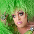 Serious Drag Queen in Green — Stok Fotoğraf #40725213