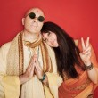 Stock Photo: Pious Guru With Woman