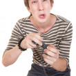Teen With Game Controller — Stock Photo