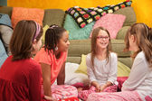 Girls at a Sleepover — Stock Photo