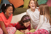 Little Girls Laugh — Stock Photo