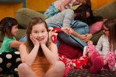 Overwhelmed at a Sleepover — Stock Photo