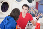 Laundromat Argument — Stock Photo