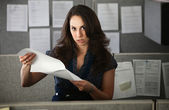 Frustrated Woman Office Worker — 图库照片
